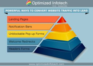 strategy to convert website traffic into lead
